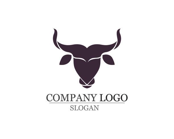 Icônes de modèle logo et symboles corne de taureau vecteur