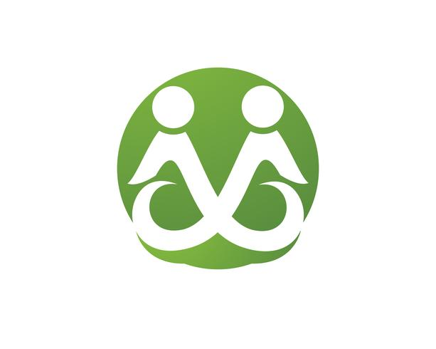 Adoption et soins communautaires Icône de modèle de logo Logo vector, vecteur