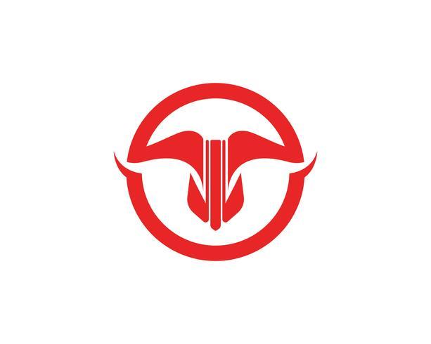 Application d'icônes de modèle logo rouge Bull et symboles vecteur