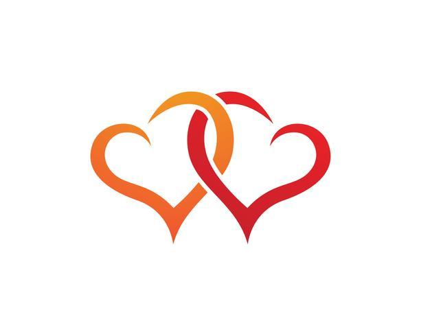 Amour Logo et symboles Vector Template icônes