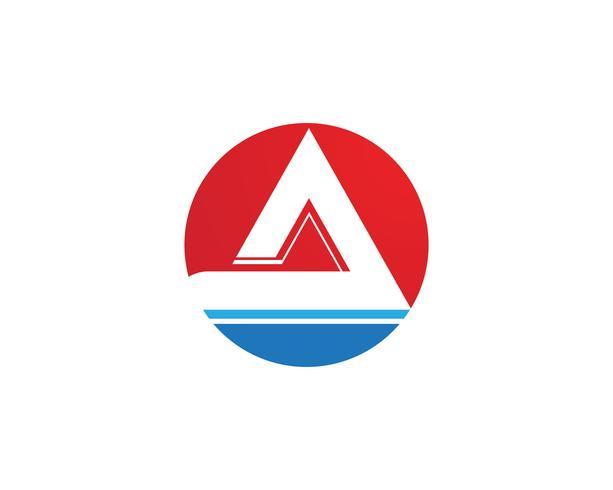 Une lettre d'affaires Logo et symbole Template Vector icon