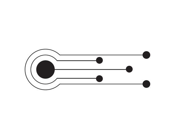 Résumé futur concept de technologie de science numérique. vecteur