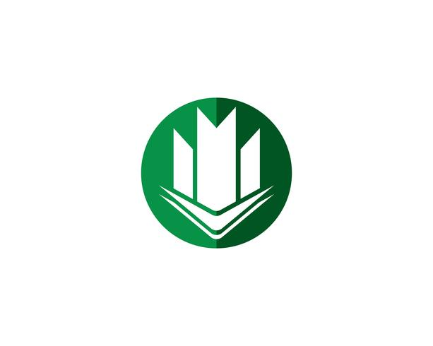Propriété et Construction Création de logo vecteur