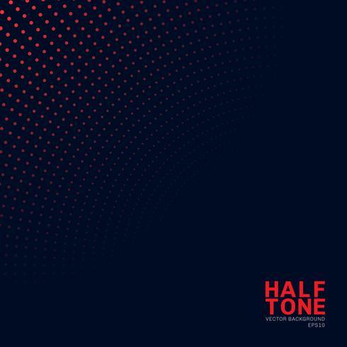 Modèle de demi-teinte abstraite couleur néon rouge sur fond sombre. Style de modèle de texture en pointillé. vecteur