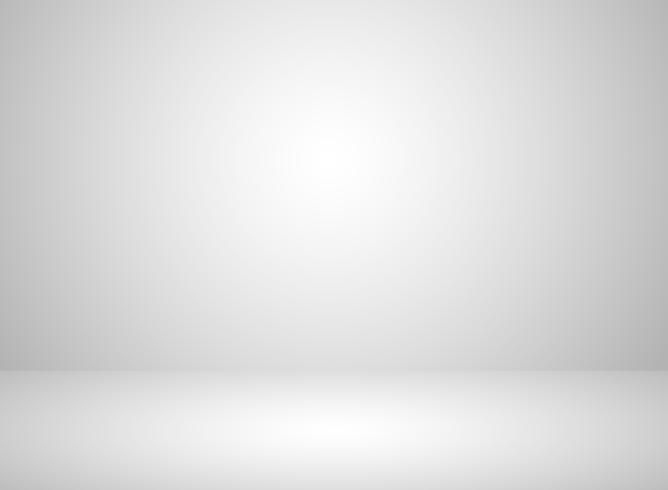 Studio intérieur de couleur blanche avec effet de lumière vecteur