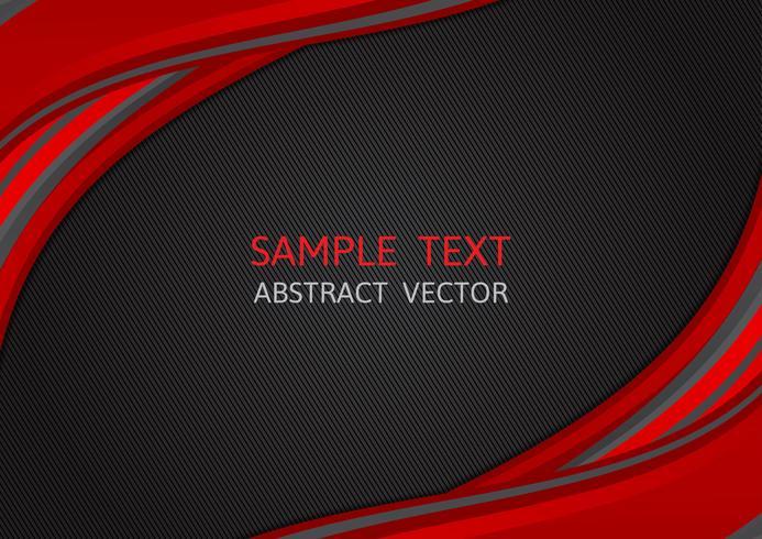 Couleur rouge et noir vague fond Abstrait vecteur avec espace copie, graphisme moderne
