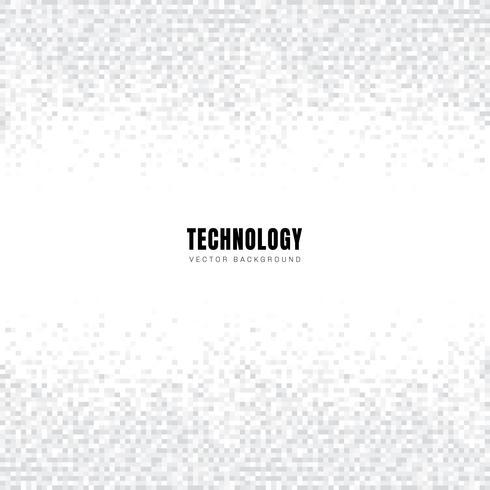 En-tête et pieds de page de modèle abstrait géométrique blanc et gris carrés de fond et texture avec espace de copie. Style de la technologie. Grille mosaïque. vecteur
