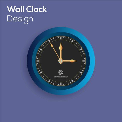Horloge murale abstraite vecteur