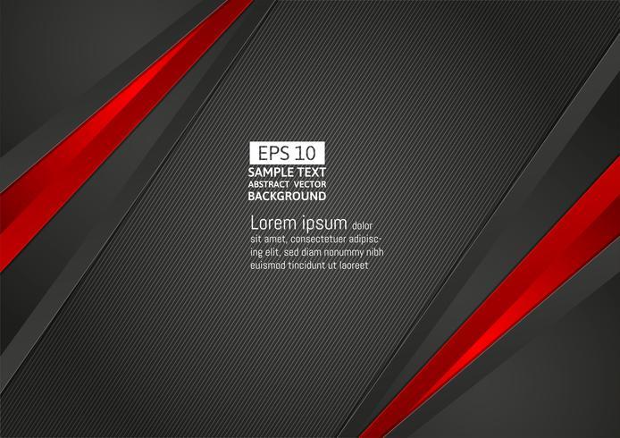 Abstrait couleur géométrique noir et rouge avec espace copie pour le design moderne de votre entreprise, illustration vectorielle vecteur