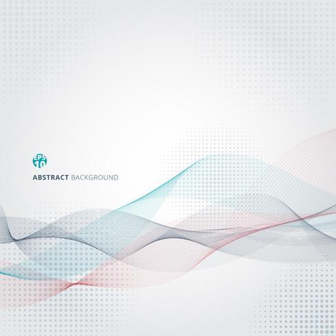 Motif de mouvement de lignes abstraites de couleur lisse. vecteur