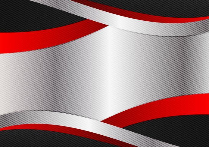 Design graphique couleur argent rouge et noir. Abstrait géométrique de vecteur avec espace de copie