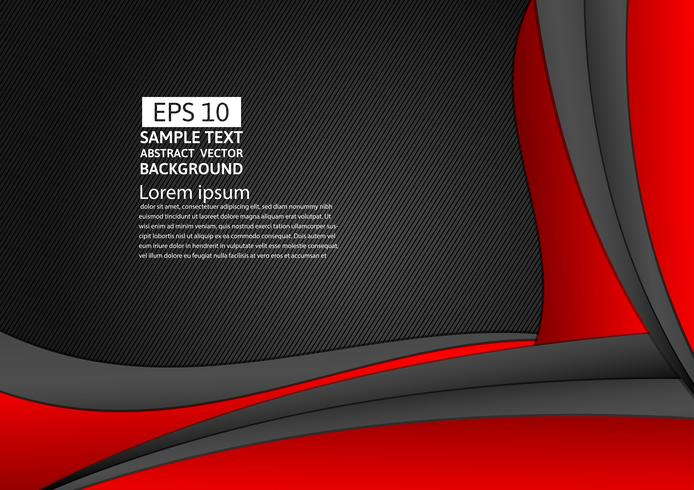 Abstrait géométrique de couleur rouge et noir avec espace de copie pour votre entreprise, illustration vectorielle vecteur