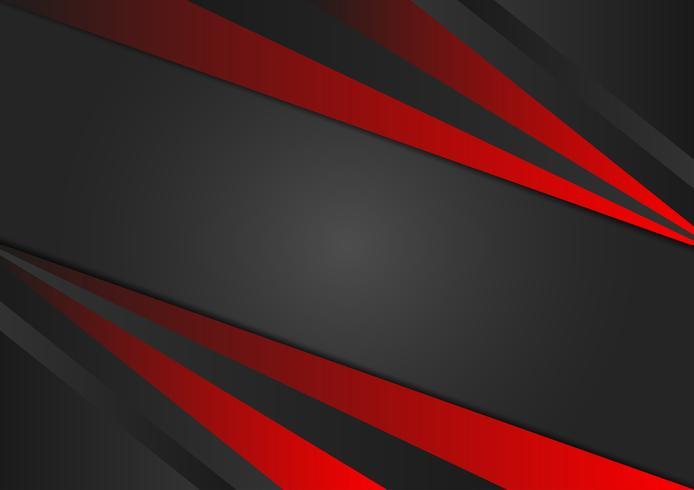 Illustration vectorielle de couleur rouge et noir abstrait géométrique EPS10 vecteur