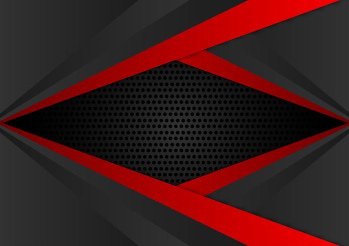 Abstrait géométrique vecteur couleur rouge et noir EPS10