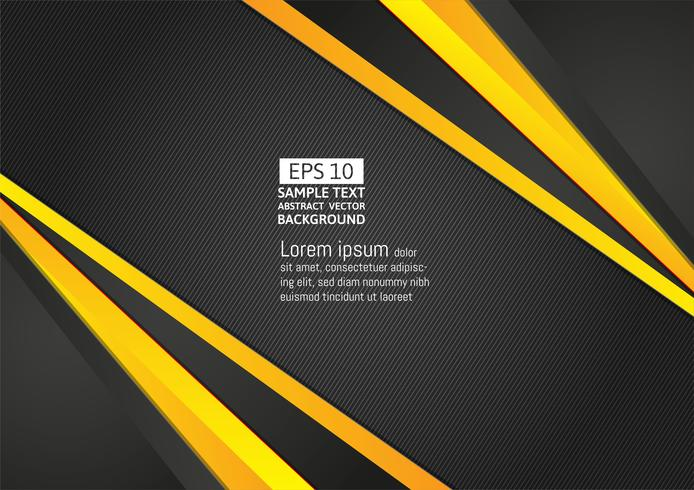 Abstrait couleur géométrique noir et jaune avec espace copie pour le design moderne de votre entreprise, illustration vectorielle vecteur