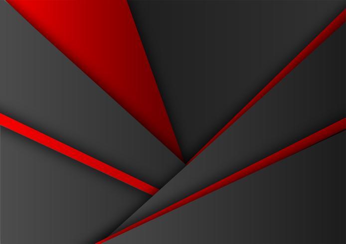 Vecteur fond géométrique de couleur rouge et noir. Texture abstraite avec design moderne espace copie