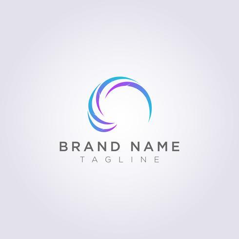 Motifs de feuilles circulaires aux formes abstraites pour votre entreprise ou votre marque vecteur