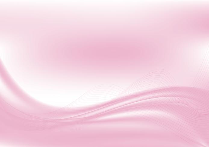 Vague abstrait rose avec espace copie, illustration vectorielle EPS10 vecteur