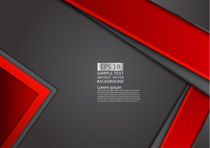 Abstrait géométrique rouge et noir avec espace de copie, graphisme vecteur