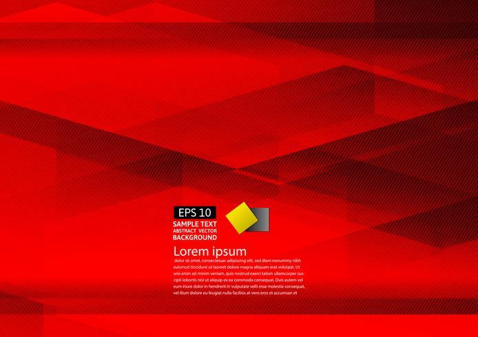 Eps10 design moderne abstrait fond rouge géométrique avec espace copie, illustration vectorielle vecteur
