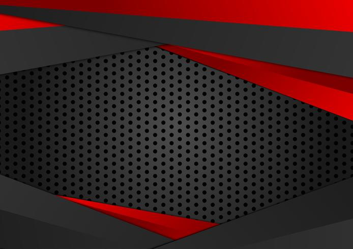 Vecteur fond géométrique de couleur rouge et noir. Texture abstraite avec la conception de l'espace de copie pour votre entreprise.