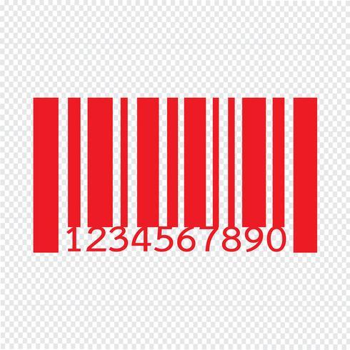 Code à barres icône illustration vectorielle vecteur
