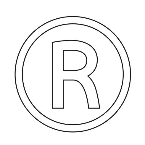 Marque déposée icône illustration vectorielle vecteur