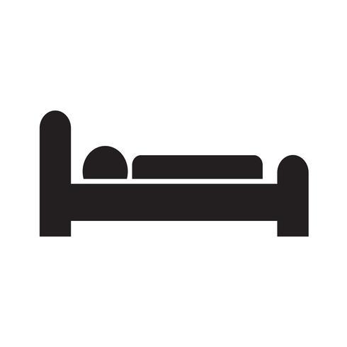 illustration vectorielle d'icône de sommeil d'hôtel vecteur