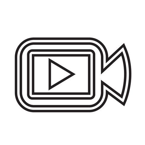 Icône de caméra de cinéma vecteur