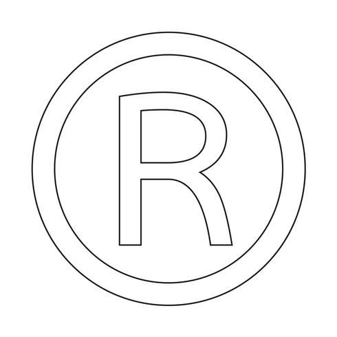 Icône de marque déposée Illustration vectorielle vecteur