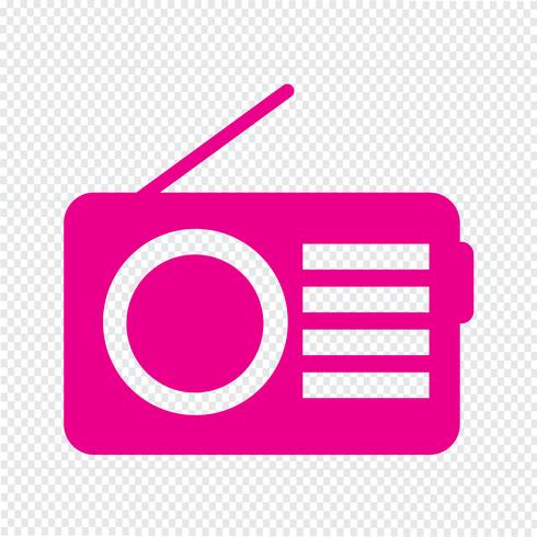 Illustration vectorielle d'icône radio vecteur