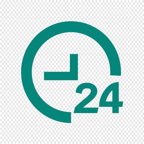 TEMPS 24 icône illustration vectorielle vecteur