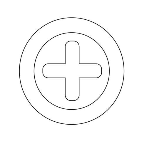 De plus icône illustration vectorielle vecteur