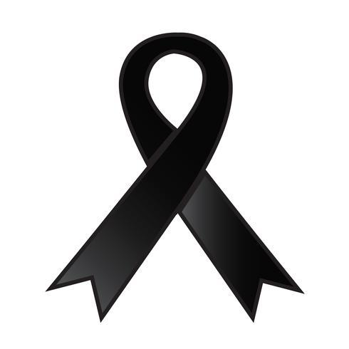 icône de ruban noir Illustration vectorielle vecteur