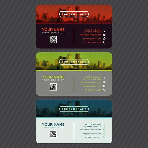 Collection de cartes de visite colorées vecteur