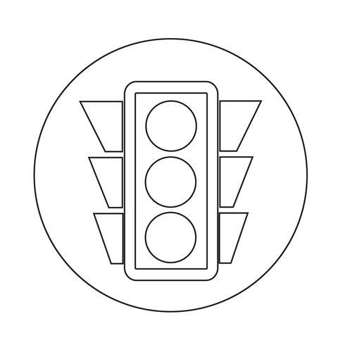 Icône de feux de circulation vecteur