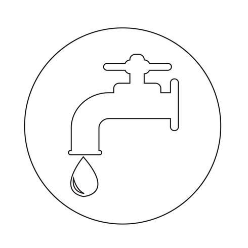 icône de robinet vecteur