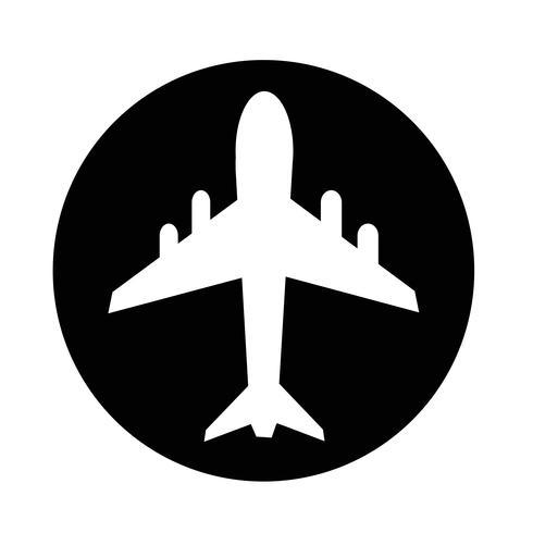 icône de l'avion vecteur