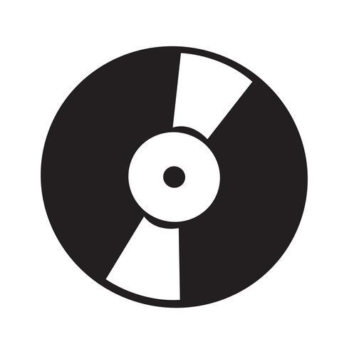 Illustration vectorielle de vinyle rétro icône illustration vecteur