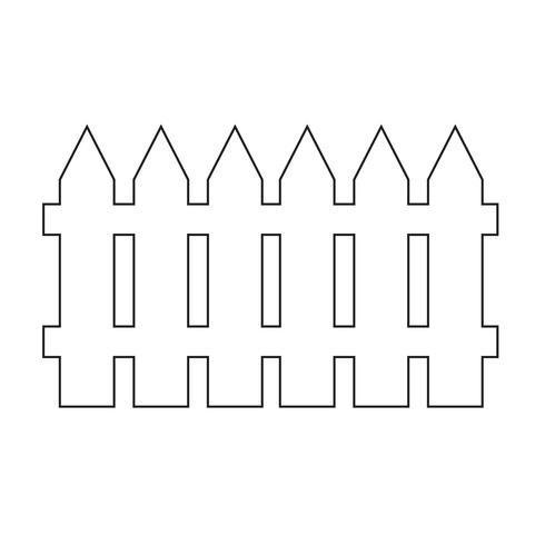 Clôture icône illustration vectorielle vecteur