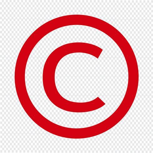 icône de symbole de copyright illustration vectorielle vecteur
