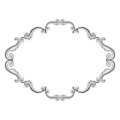 Cadre vintage ornemental. Illustration vectorielle en couleurs noir et blanc vecteur