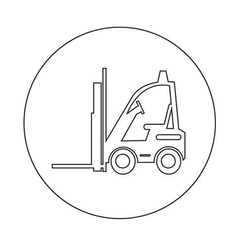 Icône de chariot élévateur vecteur