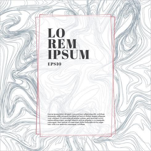 Modèle de cadre de couleur or rose sur fond luxueux de style et de texture de marbre blanc et gris. Motif tendance, affiche, couverture de brochure géométrique, cartes, etc. vecteur