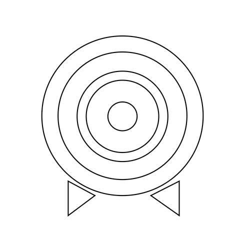 Illustration vectorielle d'icône cible vecteur