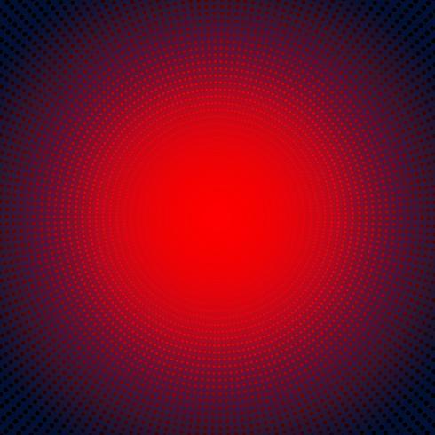 Concept numérique de technologie futuriste néon rouge rouge éclater effet sur fond sombre. Éléments de motif de points cercles style demi-teinte. vecteur