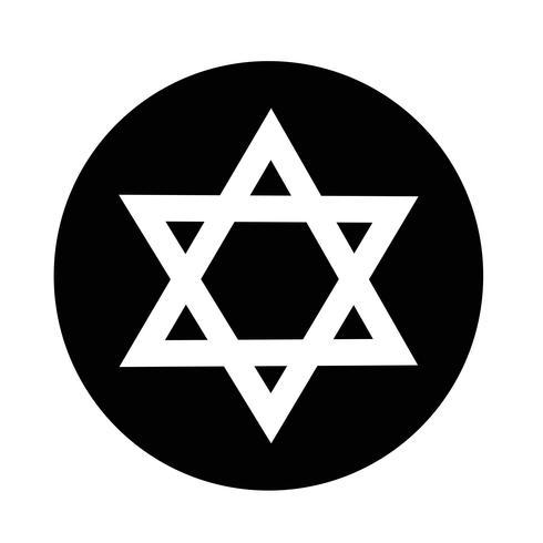 Star David icône vecteur