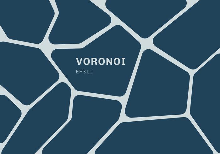 Abstrait de diagramme de voronoi bleu foncé. Fond et papier peint en mosaïque géométrique. vecteur