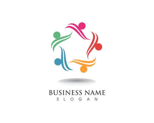 Logo du groupe star people care vecteur