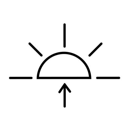 Lever du soleil icône vecteur